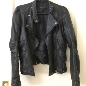 Zara Jackets & Blazers - Zara Woman Lambskin Leather Jacket