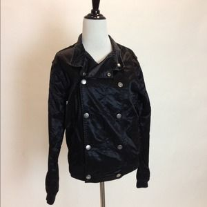 H&M Jackets & Blazers - Unisex Double Breasted Greaser Satin Jacket