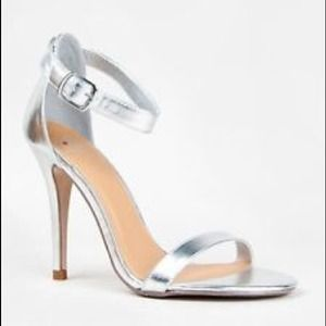 Shoes - Silver Ankle Straps