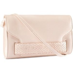 Clutches & Wallets - Pale Pink Clutch with Shoulder Strap