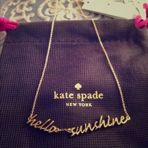 Authentic Kate Spade Hello Sunshine Necklace