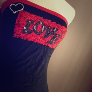 "NEW ""LOVE"" STRAPLESS TOP"