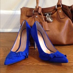 Royal blue pumps