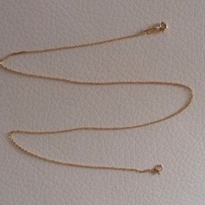 Sterling silver Italy chain necklace in gold plate