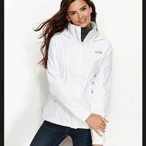 North Face Outerwear - North Face white hooded jacket