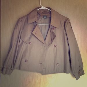 Urban Outfitters Jackets & Blazers - Urban Renewal tan cropped trench coat