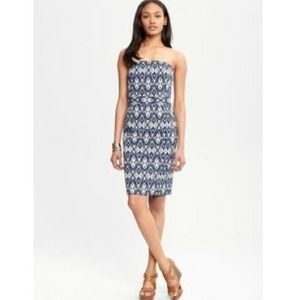 Banana Republic Dresses & Skirts - Blue ikat sweetheart dress