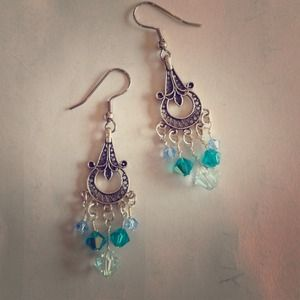 Chandelier swaravski crystal earrings