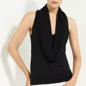 Michael Kors Black Cowl Top.  Fitted Large  NWT
