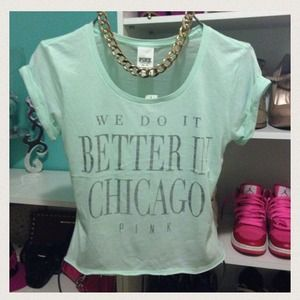 Better in Chicago VS Pink Tee
