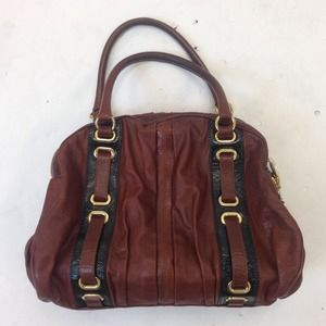 Marc Jacobs Hudson Striping Bowler Bag in Chestnut