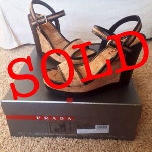 Authentic PRADA wedges BRAND NEW IN BOX! SZ 38.5