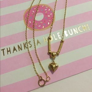 14K Gold Heart Necklace!