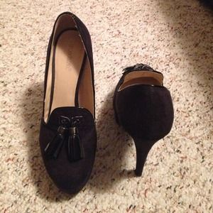 Shoedazzle Shoes - Suede Loafer Pumps