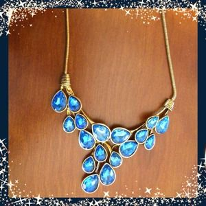 Beautiful Blue Drop Necklace