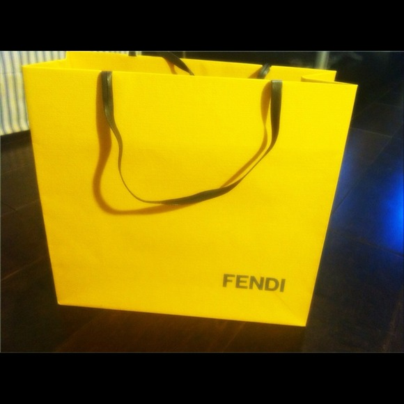 Fendi Paper Bag Fendi Yellow Gift Bag