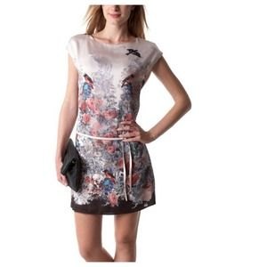 Dresses & Skirts - NEW Blush Woodland Birds Flowers Tunic Dress