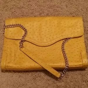 Rebecca Minkoff Handbags - Authentic Rebecca Minkoff Yellow Beau Clutch Purse