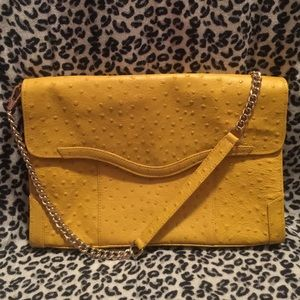 Authentic Rebecca Minkoff Yellow Beau Clutch Purse
