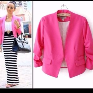 Jackets & Blazers - SALE💋💋💋NEW Stylish Chic Pink Blazer🎀