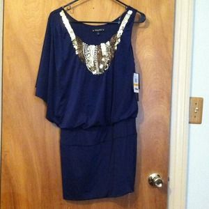 Baby phat blue maxi dress