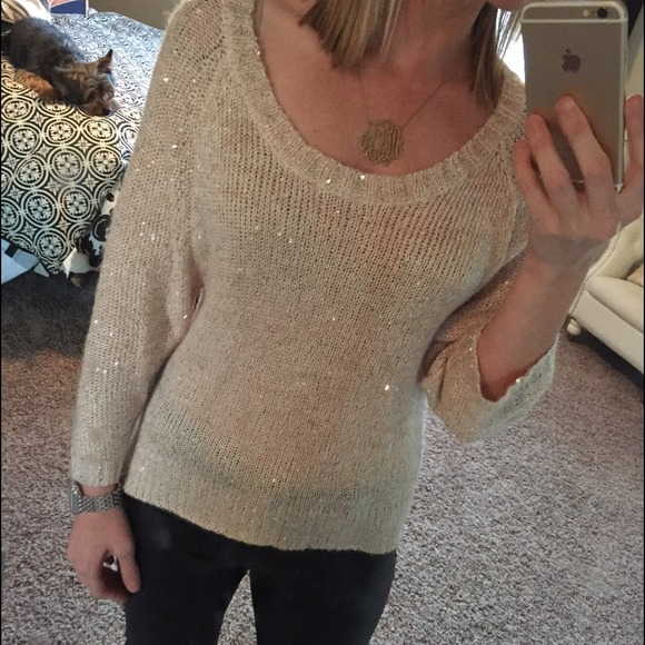 33% off H&M Sweaters - H&M gold knit sweater from Megan's closet ...