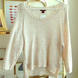 H&M gold knit sweater