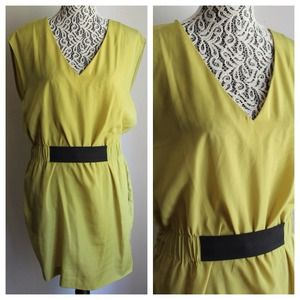 NWOT // RACHEL Rachel Roy Green Cinched Dress