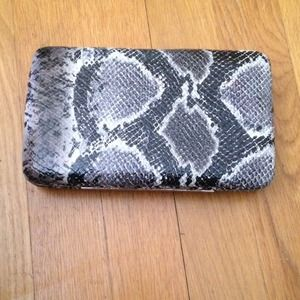 snake skin clutch!