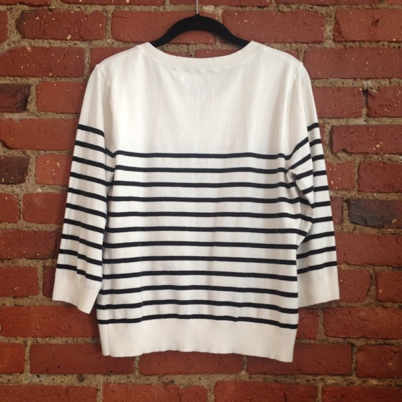 Old Navy Sweaters , Black/White Striped Sweater