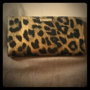 kate spade Clutches & Wallets - Authentic Patten Leather, Cheetah-Print Wallet