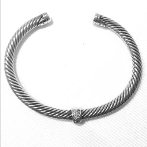 Authentic David Yurman 5mm Pave Diamond Bracelet