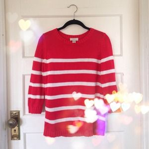 Ann Taylor Sweaters - Red and white striped sweater.