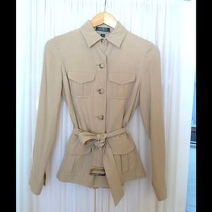 Ralph Lauren Safari Jacket Size 4 Petite
