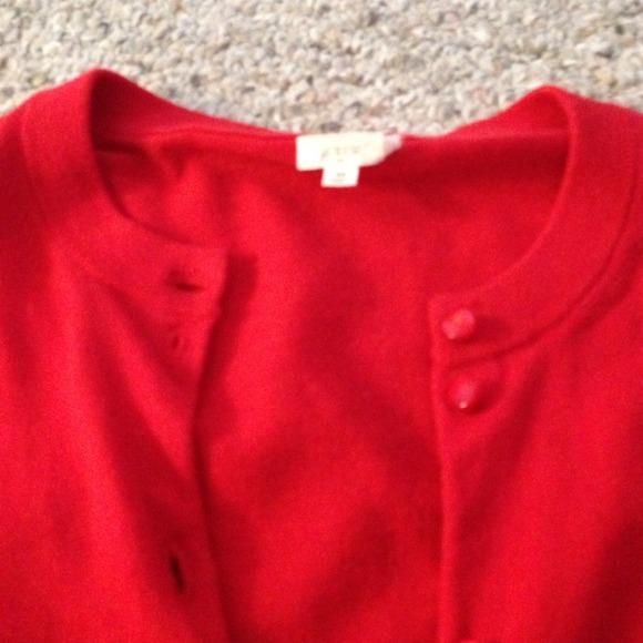 J. Crew Sweaters - J. Crew red sweater cardigan