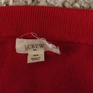 J. Crew Sweaters - J. Crew red sweater cardigan