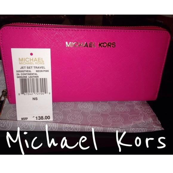 7711c3d62f04 Michael Kors Neon Pink Continental Wallet. M_53092c02dd7b7f50b90de918