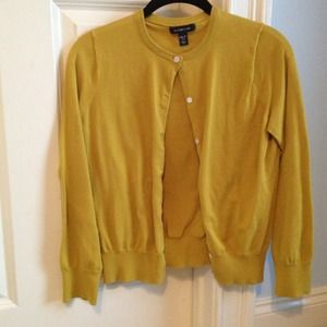 Mustard Land's End cardigan