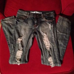 Mossimo Supply Co. Distressed Skinny Jeans