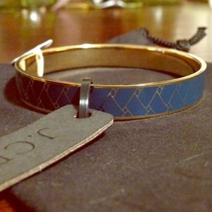 J. Crew mini etched bangle in midnight blue