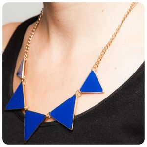 Lily Wang Jewelry - Triangular Statement Piece Necklace