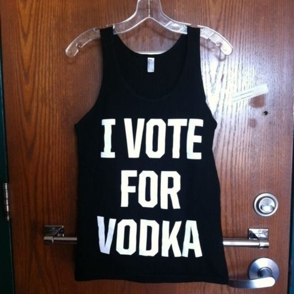 6f8a46c42 American Apparel Tops | Sold On Vinted I Vote For Vodka Muscle Tee ...