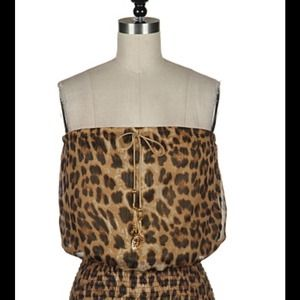 Tops - Girls nght out leopard print top