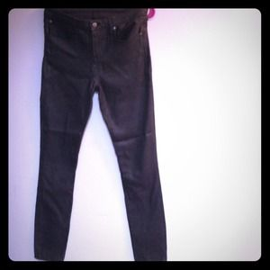 Helmut Lang Coated Grey Skinnies