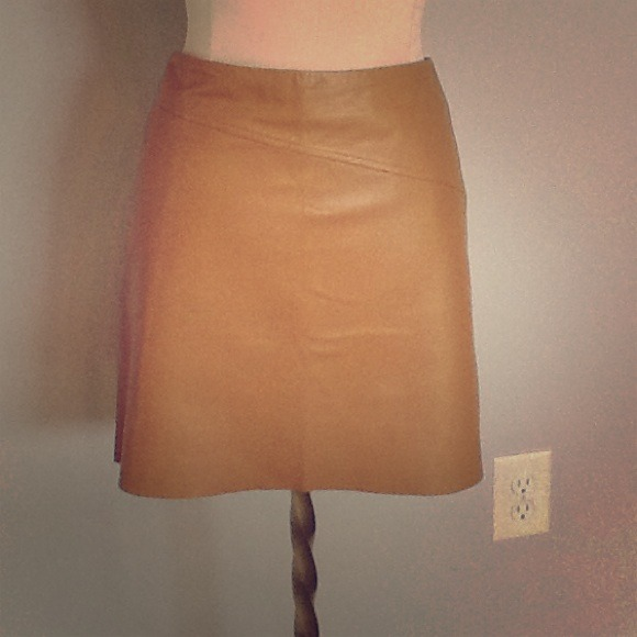 58% off BCBGMaxAzria Dresses & Skirts - BCBG Camel colored leather ...
