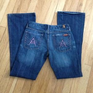 7 for all mankind jeans pink A pocket size 26