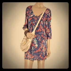 Juicy Couture Floral Print Matte Silk Dress