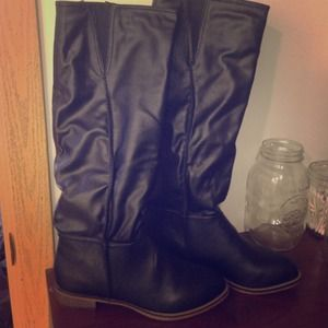 Candies Black riding boots! Brand new!