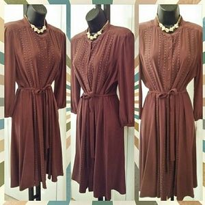 Final price. 100% Silk Chocolate Dress