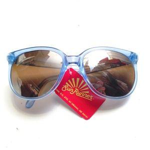 Vintage Blue Surfer Wayfarer Sunglasses NOS